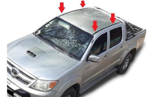 Toyota Hilux Doble Cabina Molduras Techo Baguetas Negras X 2