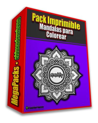 Pack Imprimible » 100 Mandalas P/ Colorear + Bonus De Regalo