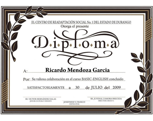 Diplomas Tamaño 21 X 30