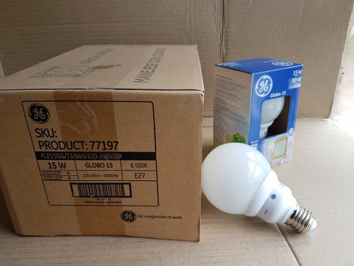 Lampara Bajo Consumo Globo 15w General Electric