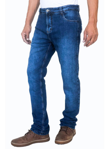 Calça Corse Motorcycle Jeans Stone Washed Azul Com Kevlar