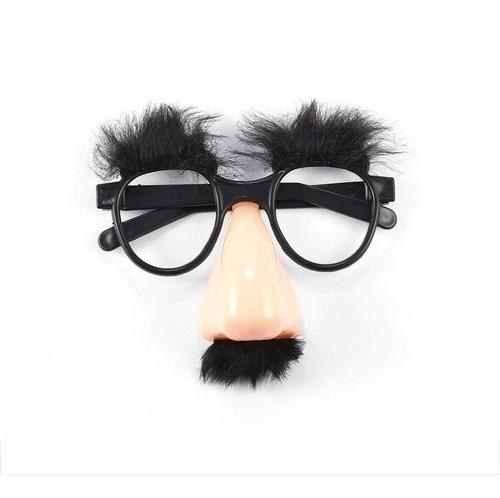 Óculos Bigode Falso Nariz Palhaço Fantasia Vestido Até Prop