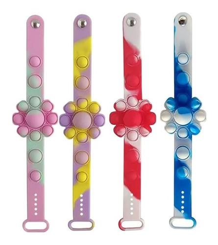 Pulseira Popit Fidget Toy Polvo Silicone Tiktok Sensorial
