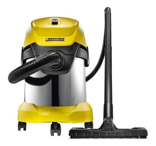 Aspiradora Multifunción Kärcher Home & Garden Wd 3 Premium 17l  Acero Inoxidable Y Amarilla 220v-240v