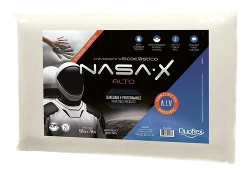 Travesseiro Nasa-x Alto - Viscoelástico 50x70cm  - Duoflex