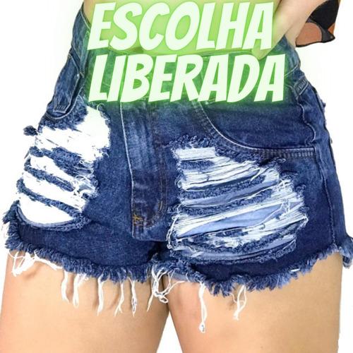 Kit 3 Shorts Jeans Luxo Feminino Cintura Alta Destroyed  : )