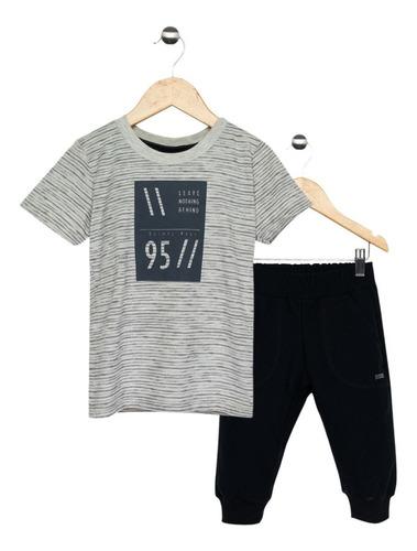 Conjunto Infantil Menino Camiseta E Bermuda Jogger Quimby