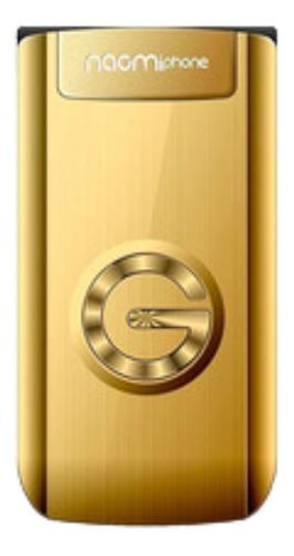 Celular Tipo Folder - Naomiphone Gold - Dual SIM, Mp3, Cámara, Red 2g - Color Dorado