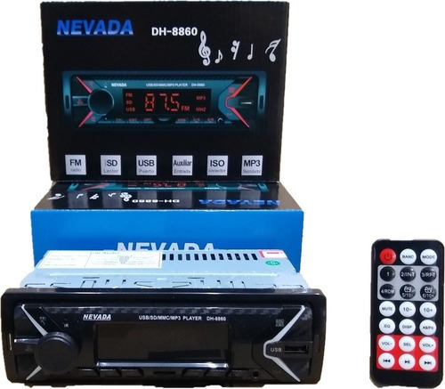 Stereo Nevada Bluetooh Usb Aux Sd Radio