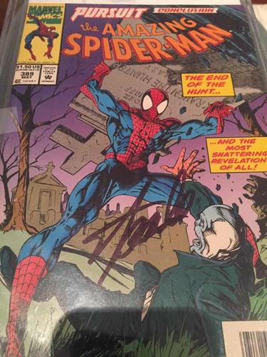 Autografo De Stan Lee Sobre O Exemplar De Spiderman