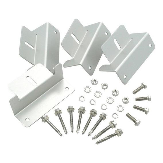 Soporte Para Panel Solar Aluminio X4 - Sp-z01 - Cuotas S/int