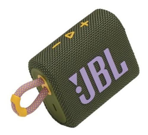 Alto-falante Jbl Go 3 Portátil Com Bluetooth Green