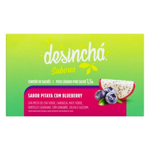 Chá Desinchá Pitaya Com Blueberry Em Sachê 45g 30 U