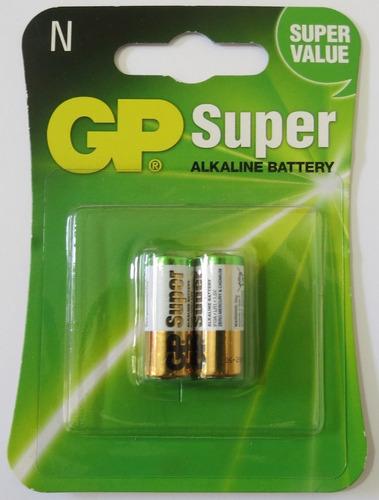 Cartón Pack Por2 Pilas Gp N Lr1 Super Alcalina 1.5v Sellada