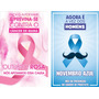 Banners Outubro Rosa E Novembro Azul Luta Contra O Câncer