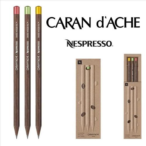 Conjunto Lápis Caran Dache + Nespresso Ed. 4 Com 3 Unidades