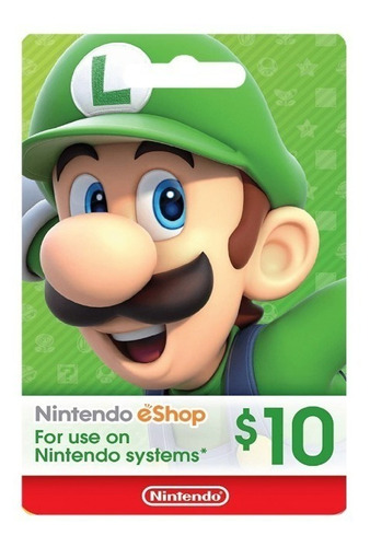 Tarjeta Nintendo E-shop 10 Usd (dólares)