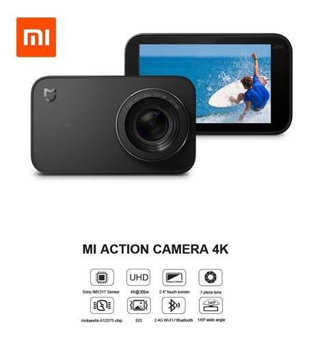 Câmera Digital Xiaomi Mi Action Camera 4k Preta
