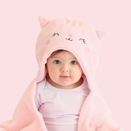 Cobertor Bebê Manta De Microfibra Com Capuz Super Macio