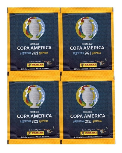 Kit 50 Figurinhas Do Álbum Copa América 2021 (10 Envelopes)