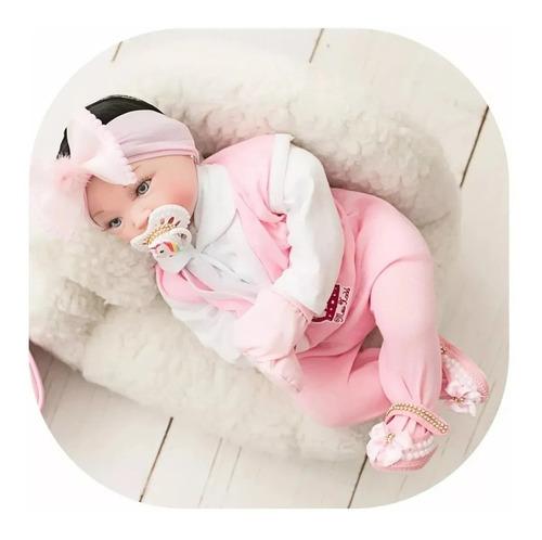 Bebê Reborn Real Verdade Mais Barata Menina Chupeta 16 Itens