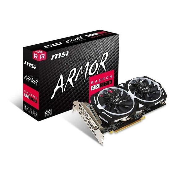 Placa de video AMD MSI Radeon RX 500 Series RX 570 RADEON RX 570 ARMOR 4G OC OC Edition 4GB