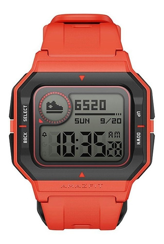 Smartwatch Amazfit Sport Neo 1.2  Caixa De  Plástico  Orange Pulseira  Orange De  Pur A2001