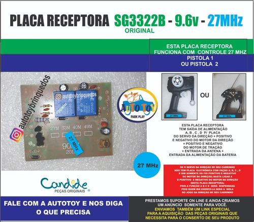 Placa Receptora 9.6v  Sg3322b  27mhz