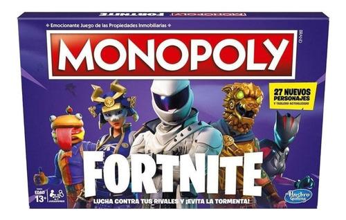 Juego De Mesa Monopoly Fortnite Hasbro