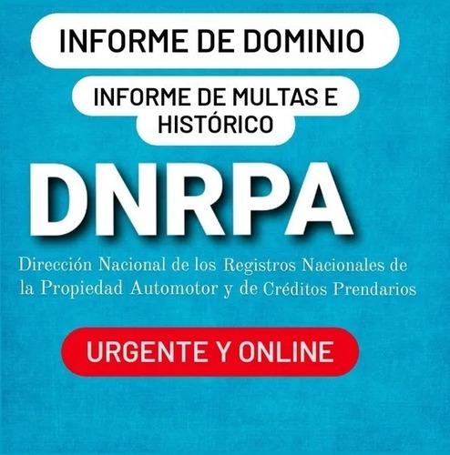 Informe  Dominio, Historico, Infracciones. Automotor Y Motos