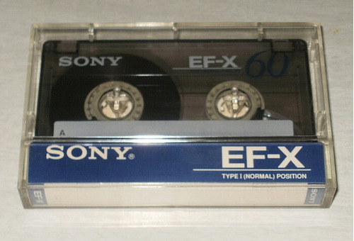 1 Cassette Sony Ef-x 60 Type I Un Solo Uso