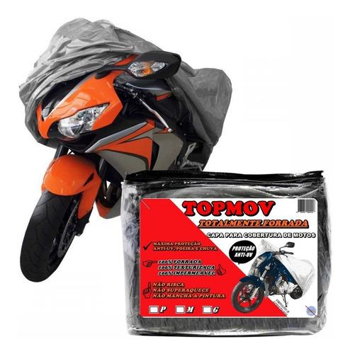Capa Para Cobrir Moto Forrada Proteção Anti Raios Solares Uv