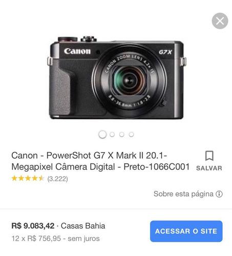 Câmera Canon Powershot G7x Mark Ii 20.1 Megapixel