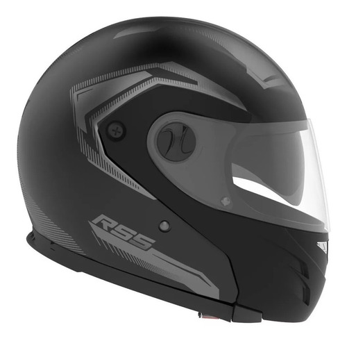 Casco Para Moto Modular Hawk Rs5 Vector  Negro Talle Xl