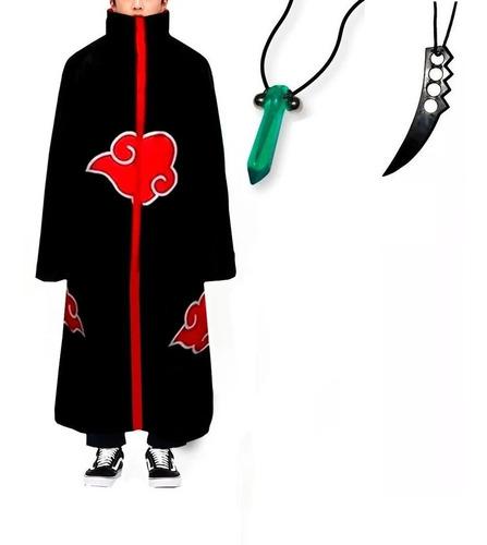 Manto Akatsuki/cosplay/fantasias /naruto/gola Dura