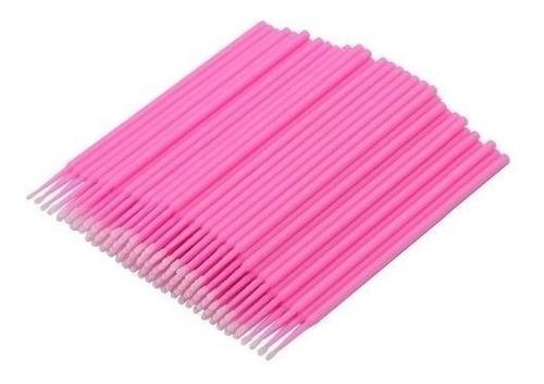 Microbrush Cotonete - 100un Alongamento Permanente De Cílios
