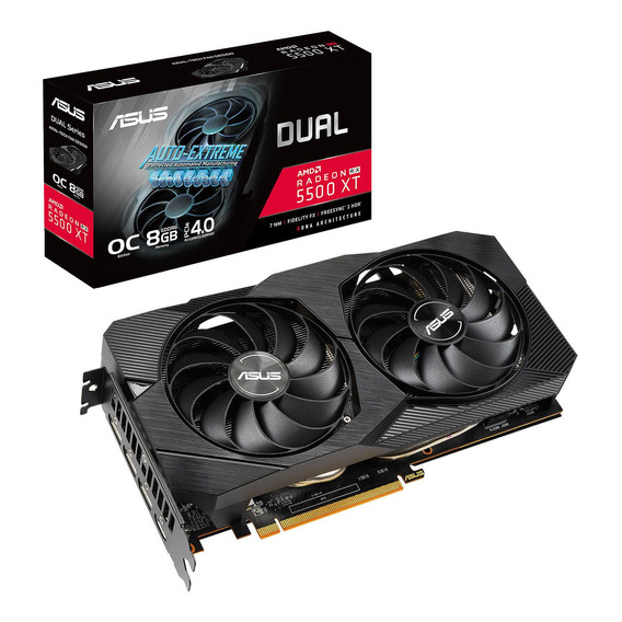 Placa de video AMD Asus Radeon RX 5500 Series RX 5500 XT DUAL-RX5500XT-O8G-EVO OC Edition 8GB