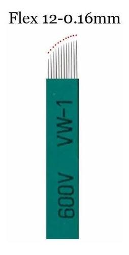 Kit 10 Laminas Tebori Microblading