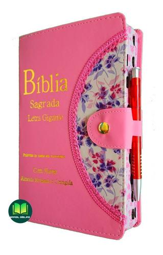 Bíblia Evangélica Feminina / Masculina Letra Grande E Harpa