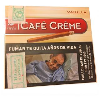Pack X100 Cafe Creme Original Puritos Habano Cigarro Puros