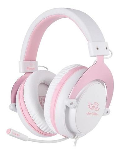 Audífonos Gamer Sades Mpower White Y Pink