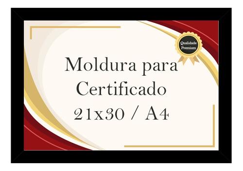 Moldura Certificado A4 21x30 Gravata Suporte Apoio De Mesa