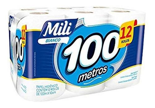 Papel Higienico Mili  12 Rollos De 100 Mts