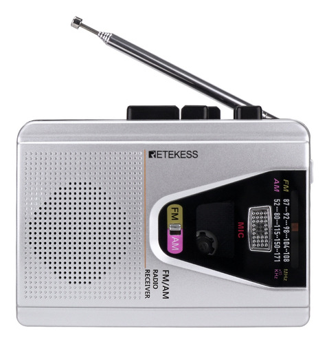Retekess Tr620 Fm Am Portátil Rádio Cassete