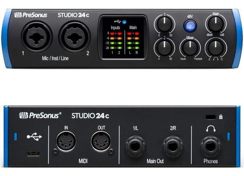 Interface Presonus Studio 24c Usb-c Nova Lacrada