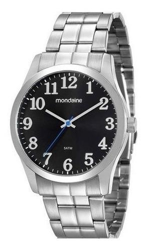 Relógio Masculino Prata Mondaine Original Barato Garantia