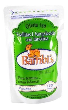 Toallitas Húmedas Bambis Repuesto X100