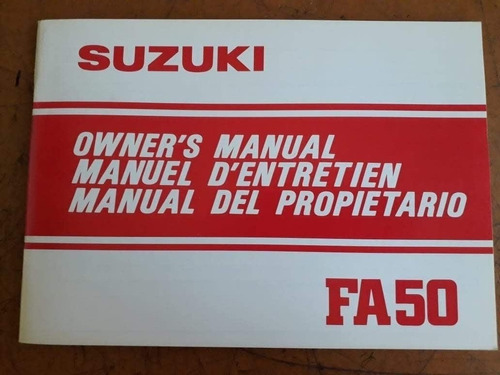 Manual Suzuki Fa 50