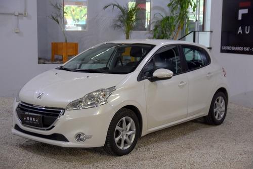 Peugeot 208 Allure 1.5 Nafta 2014 Blanco Excelente Estado!!!