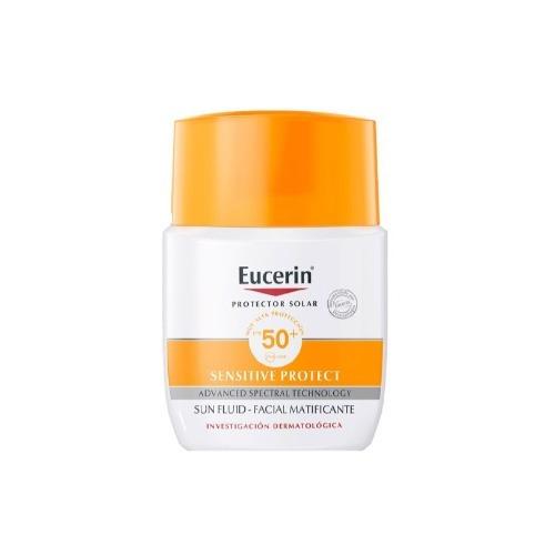 Protector Solar Eucerin Sensitive Protect Sun Facial Matificante Fluido Fps50 X 50ml